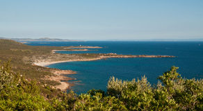 Green coast of Corsica Royalty Free Stock Image