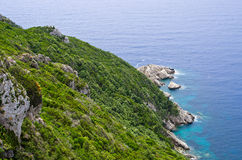 Green coast in Mediterranean country Royalty Free Stock Photos