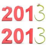 Green cobra 2013 symbol. On white background royalty free illustration