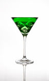 Green cocktail. In a martini glass Royalty Free Stock Photo
