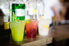 Green cocktail on a bar Royalty Free Stock Image