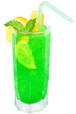 Green cocktail with crushed ice Royalty Free Stock Photo