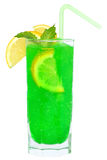 Green cocktail with crushed ice Royalty Free Stock Images