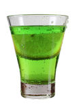 Green cocktail in cup Stock Image