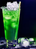 Green cocktail  on dark background 34 Royalty Free Stock Photos