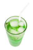 Green cocktail with herb isolated, top view Royalty Free Stock Image