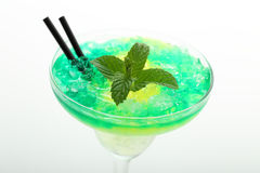 Green cocktail with ice and mint Royalty Free Stock Image