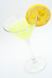 Green cocktail with lemon Stock Images