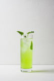 Green cocktail with mint Royalty Free Stock Images