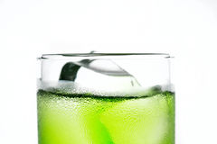 Green cocktail with mint Royalty Free Stock Photography
