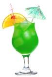 Green Cocktail Orange Slice Stock Photo