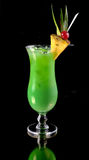 Green cocktail with pineapple Royalty Free Stock Photos