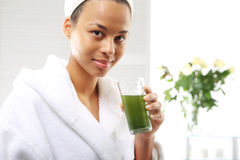 Green cocktail protein, healthy diet Royalty Free Stock Photography