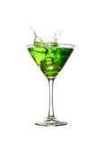Green cocktail splash Stock Photos
