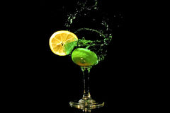 Green cocktail splash Stock Image
