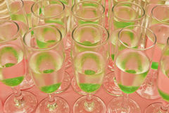 Green cocktails Stock Photography