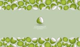 Green coconut cadre stock illustration