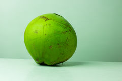 Green coconut fruit  on white background.Fresh coconut Stock Photography