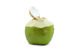 Green coconut isolated on white Stock Image