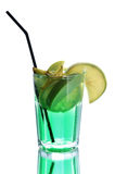 Green coctail with apple Stock Images
