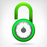 Green code circular padlock design  Royalty Free Stock Photos