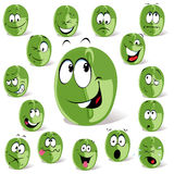 Green coffee bean cartoon Stock Photo