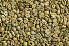 Green coffee beans Stock Photography