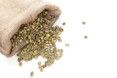Green coffee beans. Royalty Free Stock Photography