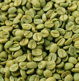 Green coffee beans close-up Royalty Free Stock Image