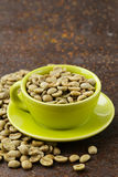 Green coffee beans close-up Stock Photos