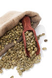 Green coffee beans. Stock Photography
