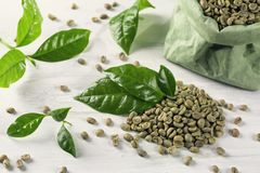Green coffee beans Stock Image