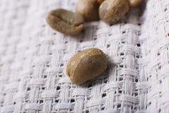 Green coffee beans, macro shot Royalty Free Stock Photography