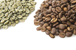 Green Coffee beans Royalty Free Stock Images