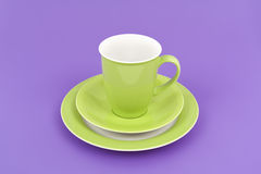 Green coffee cup Royalty Free Stock Image