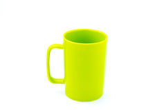 Green coffee cup. Isolated with white background Stock Photography