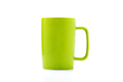 Green coffee cup. Isolated with white background Royalty Free Stock Photography