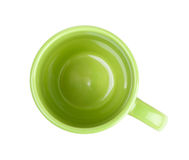 Green coffee cup Royalty Free Stock Photos