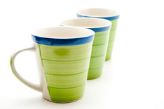 Green coffee cups Stock Photography