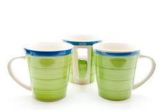 Green coffee cups Royalty Free Stock Images