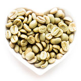 Green coffee heart Stock Photos