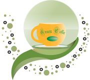 Green coffee logo design vector vector illustration