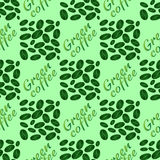 Green coffee seamless pattern Stock Photo