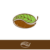 Green Coffee and Tea Logo Stock Image