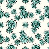 Green cog abstract seamless pattern on a light background Royalty Free Stock Photos