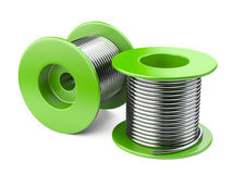 Green coils with wire. Stock Photo