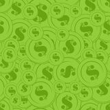 Green Coin Seamless Background. Can be used as textile, fabric or wrapping paper Stock Images