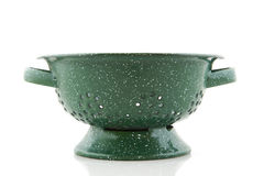 Green colander Stock Images