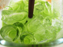 Green cold drink in glass Royalty Free Stock Photos