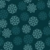 Green color abstract snowflakes concept Stock Photography